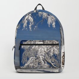 Lonely Snow Covered Tree On Hillside Ultra HD Backpack