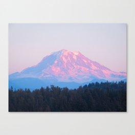 Mount Rainer Alpenglow Canvas Print