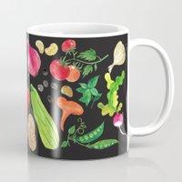 oana befort Mugs featuring VEGGIES in black by Oana Befort