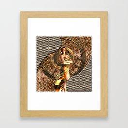 Steampunk, beautiful steam women Framed Art Print