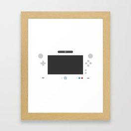 Wiite U Framed Art Print