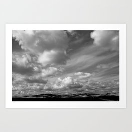'Valley Clouds' Art Print