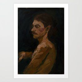 Figure Study, Man with Moustache Art Print