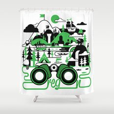 O is for Oregon Shower Curtain