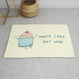 Make Cake Not War Rug