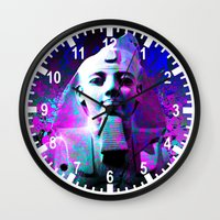 egyptian Wall Clocks featuring digital Egyptian  by seb mcnulty