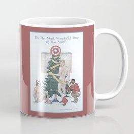 Team Cap Naughty Pinup Holiday Card Coffee Mug