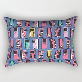 Memphis Eighties Stylized Retro Cassette Tape Player Rectangular Pillow