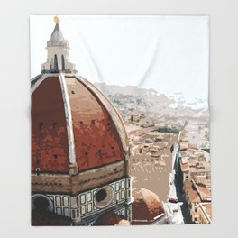 Masterpiece of Florence! Throw Blanket