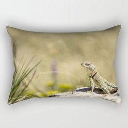 Lizard At Attention Rectangular Pillow