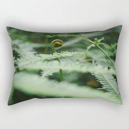 The Green Fern Rectangular Pillow
