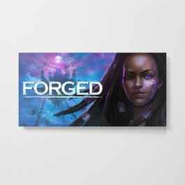 FORGED- Qadira Metal Print