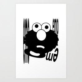 Emo Elmo Art Print