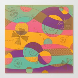 Abstract pattern - Chocolate Candy Canvas Print