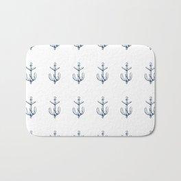 Nautical Marine Anchor Sailor Seamless Pattern Bath Mat