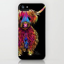 HiGHLaND CoW PRiNT SCoTTiSH ' BuTCH ' BY SHiRLeY MacARTHuR iPhone Case