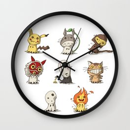 Mimiking Spirits Wall Clock