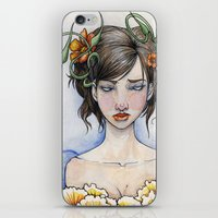 three of the possessed iPhone & iPod Skins featuring Possessed By Beauty by Rin Ascher