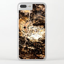Petrified Tree Rings II Clear iPhone Case