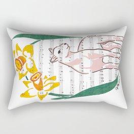 The Lamb of God (lamb and daffodils on a hymn) Rectangular Pillow
