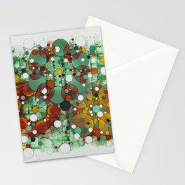 Dark Green Dot Stationery Cards
