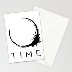 Arrival - Time Black Stationery Cards