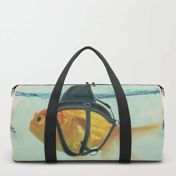 Brilliant DISGUISE - Goldfish with a Shark Fin Duffle Bag
