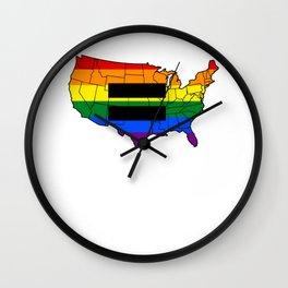 Gay Pride Parade LGBT Lesbian Gay Bi Trans Queer Pan Wall Clock