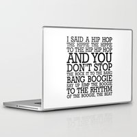 hip hop Laptop & iPad Skins featuring HIP HOP BOGGIE WHITE by HOLY MOLY