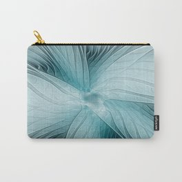 Blue Blooming, Abstract Fractal Art Carry-All Pouch