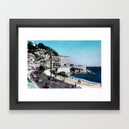 1950's Vintage Nice France Framed Art Print