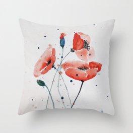 Poppies no 2 Throw Pillow
