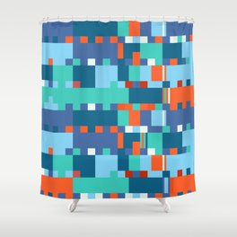 Chopin Fantaisie Impromptu (Anemone & Coral Colours) Shower Curtain