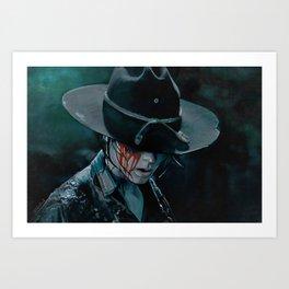 Carl Grimes Shot In The Eye - The Walking Dead Art Print