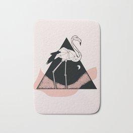 Flamingo in straight lines Bath Mat