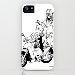 Ajeossi Dogs on a Daelim iPhone Case
