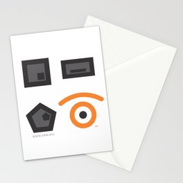 geometrical atraction glance Stationery Cards