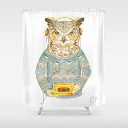 Feathers & Tunes Shower Curtain