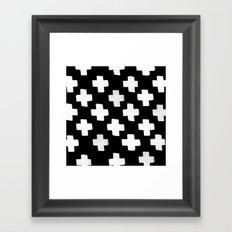 Criss Cross Pattern Framed Art Print