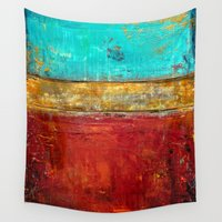 whatever Wall Tapestries featuring Super Whatever by Liz Moran