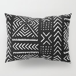 Line Mud Cloth // Black Pillow Sham