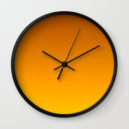Honey Brown Orange Yellow Ombre Flames Wall Clock