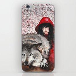 Caperucita Roja y el Lobo iPhone Skin