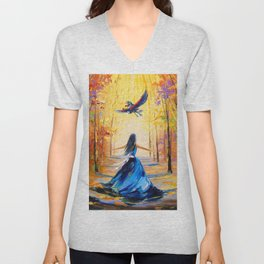Twilight Princess And Zelda Flying Unisex V-Neck