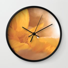 Sun Flare Sunflower Wall Clock