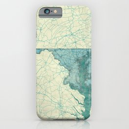 Maryland State Map Blue Vintage iPhone Case