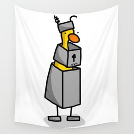 Robot Duck Costume Wall Tapestry
