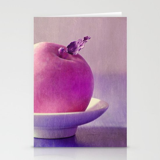 pink apple Stationery Cards