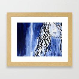 Blue Girl Framed Art Print