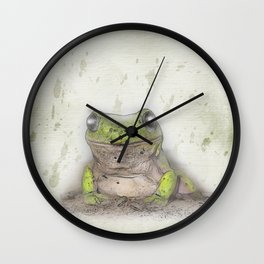 Jeremiah was a bullfrog Wall Clock
